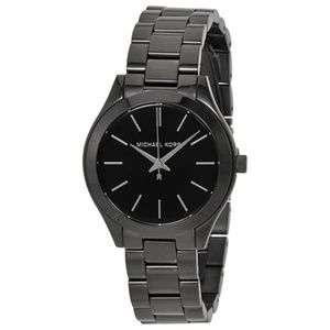 Michael Kors Slim Runway Black Dial Ladies Watch